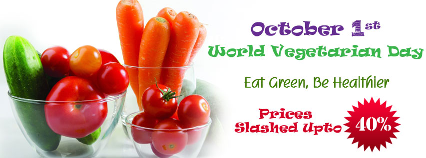 October 1st, World Vegetarian Day in India, With Aroma Fresh